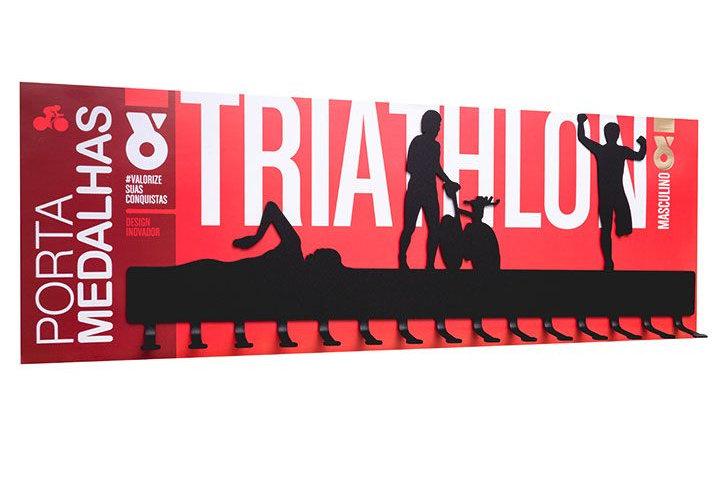 Porta Medalhas - Triathlon