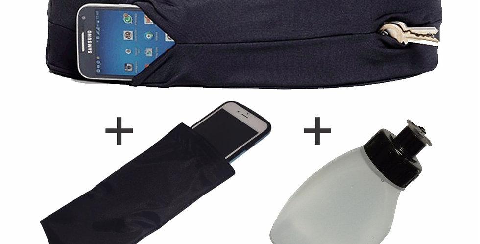 Kit - 01 Coolbelt + 01 Case Impermeável + 01 Squeeze 220ml