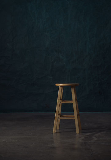 a stool representing a backdrop for product video production