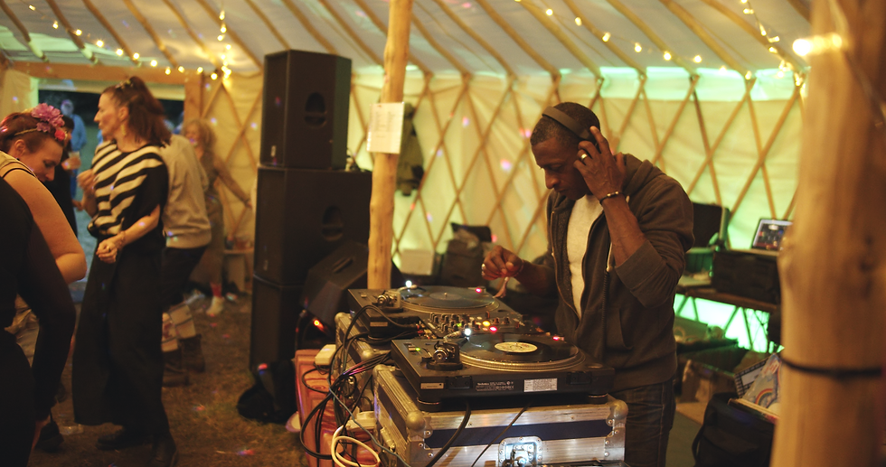 DJ performing at a music event