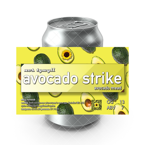 Avocado strike Mead Nos Tywyll