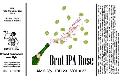 Andrii`s Brut IPA Rose