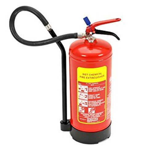 Wet Chemical Fire Extinguisher Gloria 6 Litre W6DRC