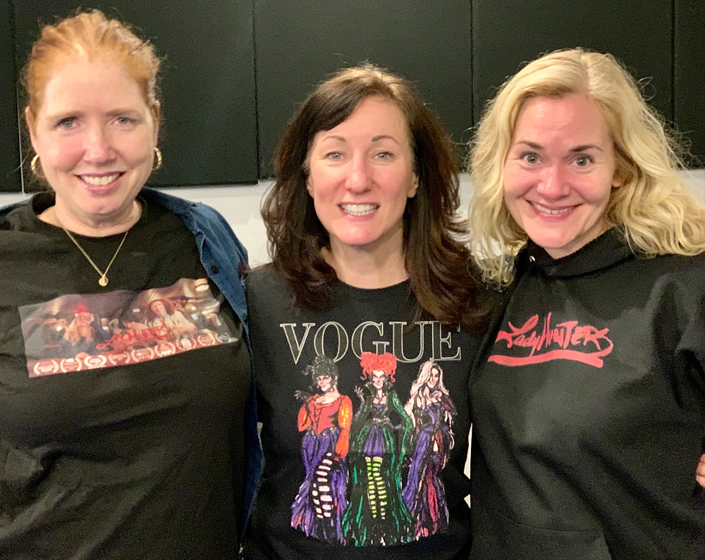 Lady Hunters co-stars Marianne Hardart, Angela Atwood, and Lara Buck Antolik