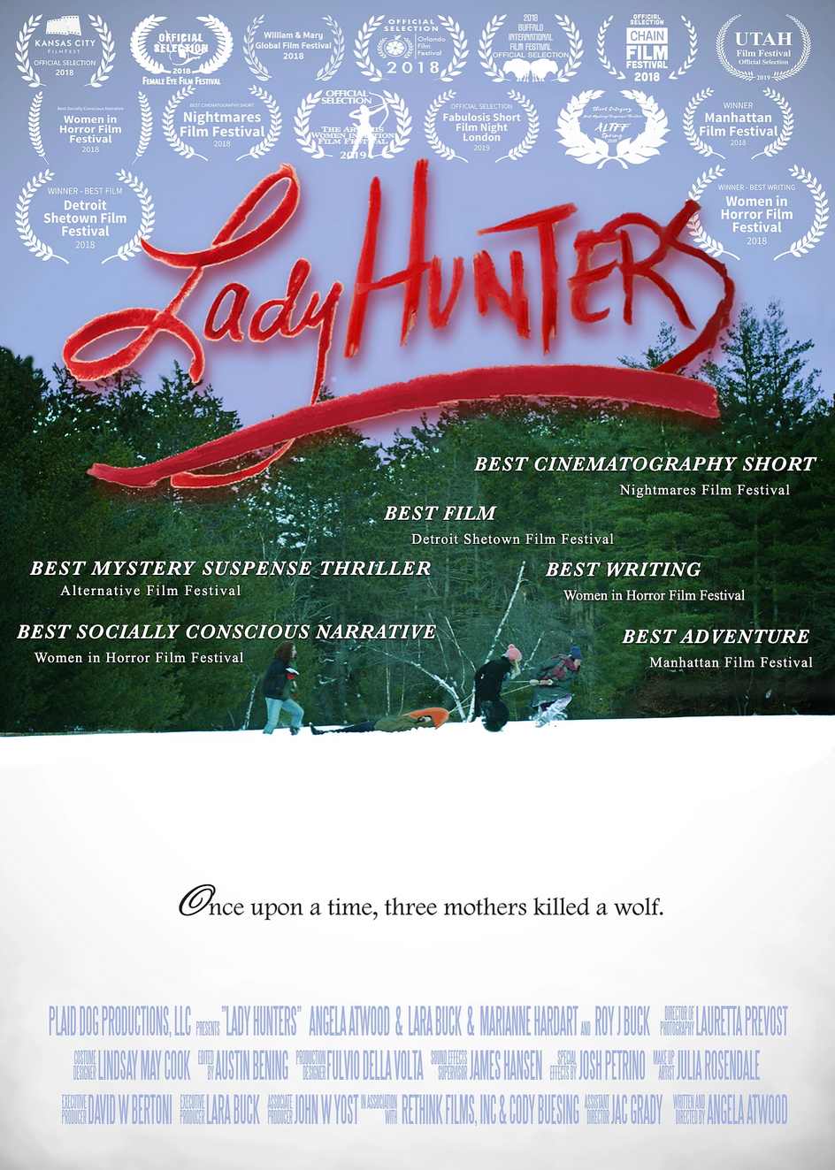 LADY HUNTERS - 6 AWARDS, and coming to the WEST COAST!