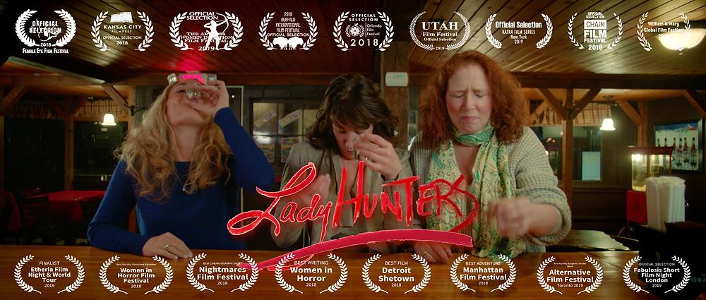 Lady Hunters Lara Buck, Angela Atwood, and Marianne Hardart