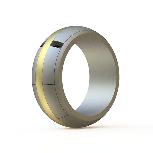THE HIGH ROLLER - NARROW STAINLESS STEEL AND GOLD