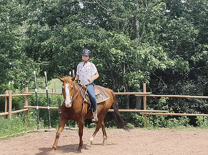 Children and teens' horse riding