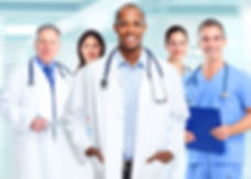 Medical physician doctor man and group o