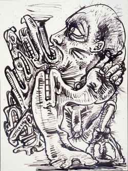 Smoker 2 / Ink on Paper