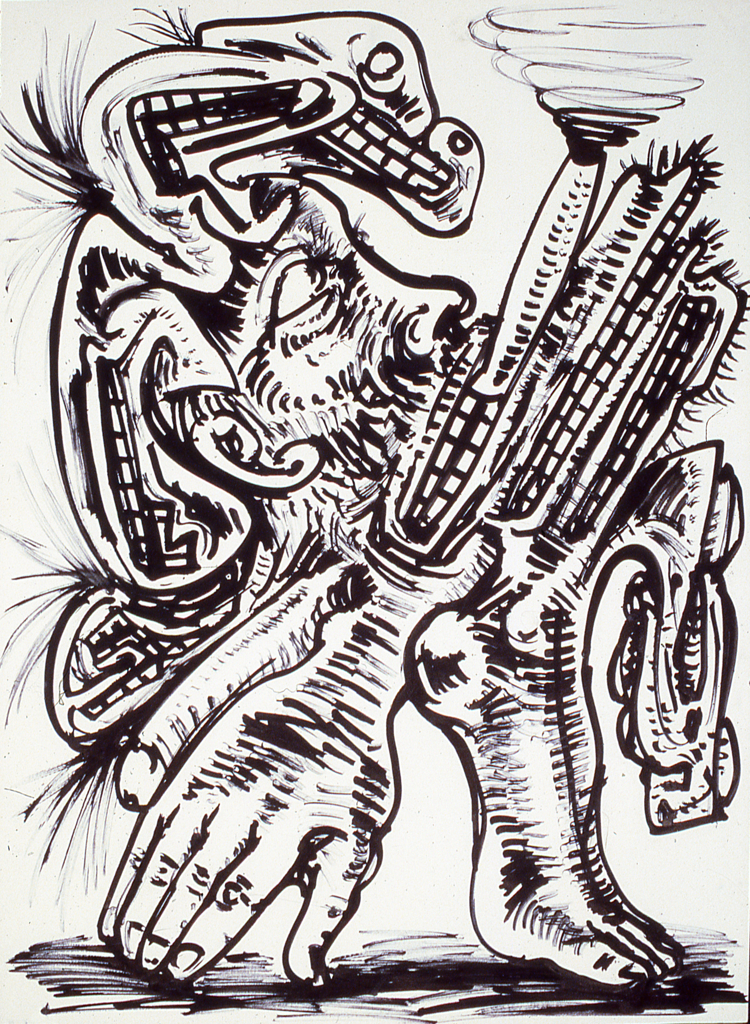Smoker 1 / Ink on Paper