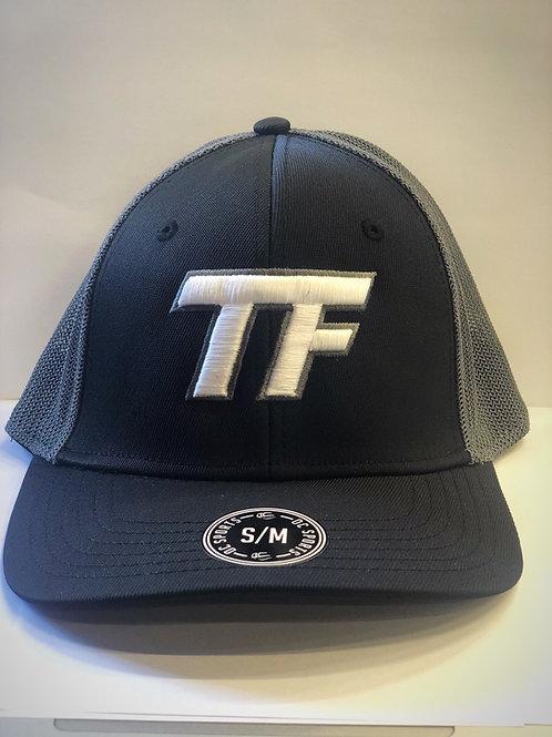 TF FlexFit Hat Blk/Grey - Small/Medium