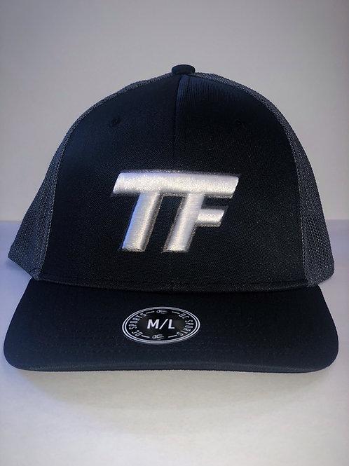 TF Flex Fit Hat Blk/Gry - Medium/Large