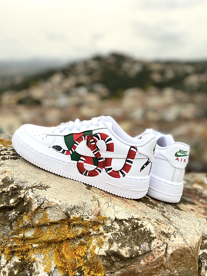 Nike Air Force 1 - Inspiration Serpent Gucci