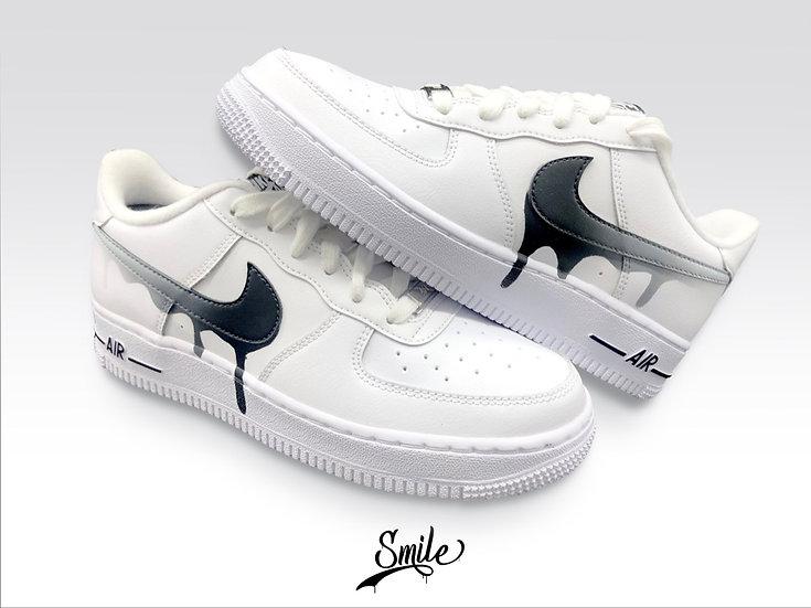 "Nike Air Force 1 - Custom ""Drip"" / Coulures"