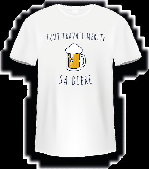 T shirt - Tout travail mérite sa bière