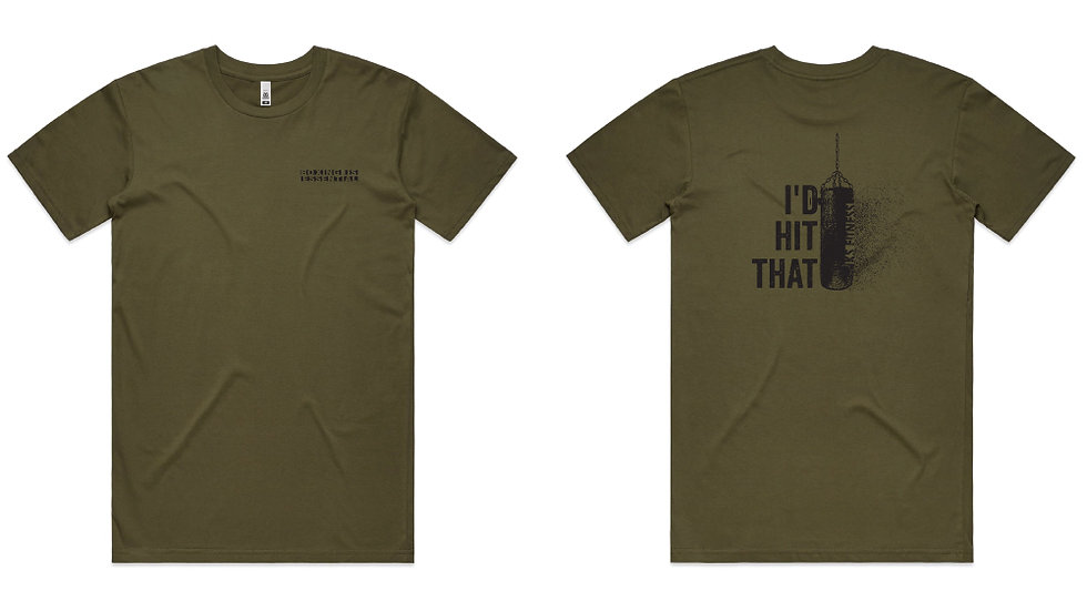 Olive Short Sleeve Tee I'd HIT THAT