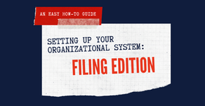 Setting Up Your Organizational System: Filing Edition