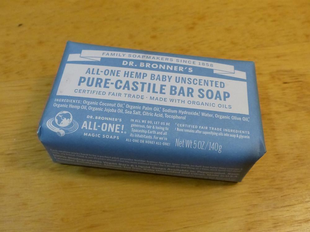 Dr. Bronner's Pure Castile Bar Soap, unscented