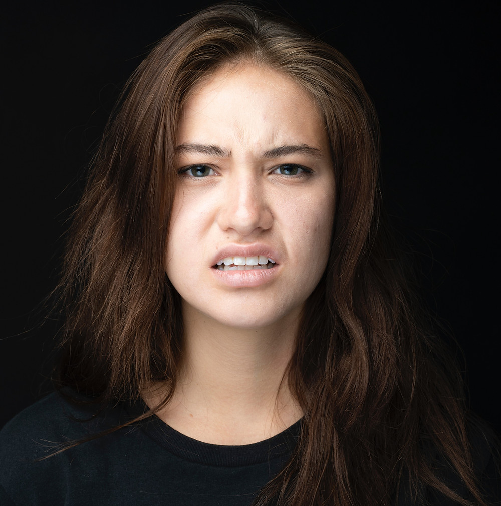 Woman looking very confused.