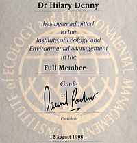 MCIEEM - SQE Suitably Qualified Ecologist