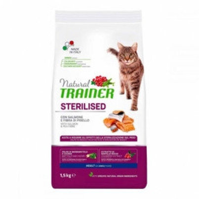 TRAINER NATURAL ADULT STERILISED для стерилизованных кошек с лососем