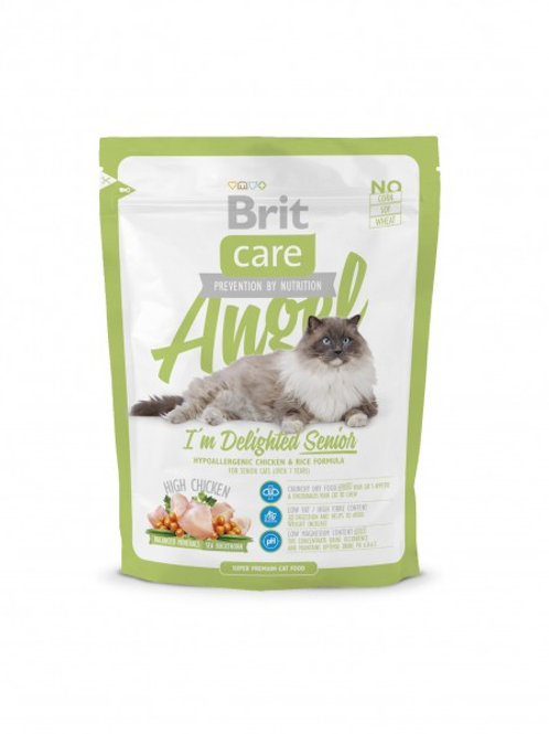 Сухой корм Brit Care Angel I am Delighted Senior для пожилых кошек 400 гр