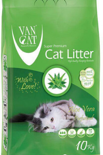 Наполнитель для кошачьего туалета Van Cat Super Premium Quality Aloe Vera