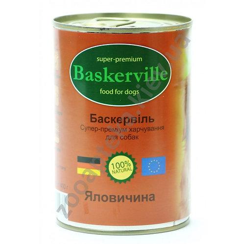 Baskerville - консервы для собак, с говядиной