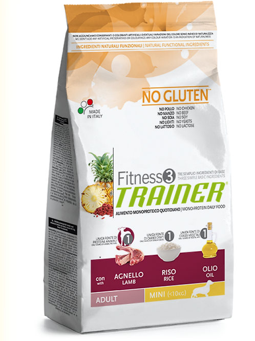 TRAINER FITNESS3 ADULT MINI WITH LAMB RICE OIL  2кг