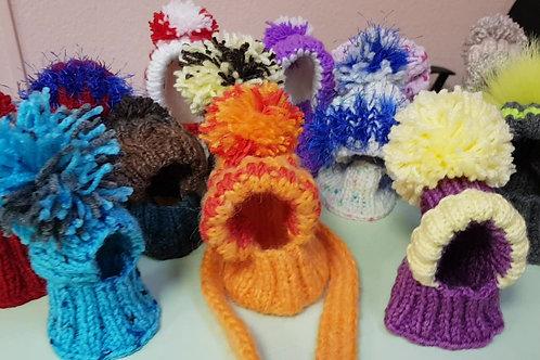 Вязанные шапки для собак