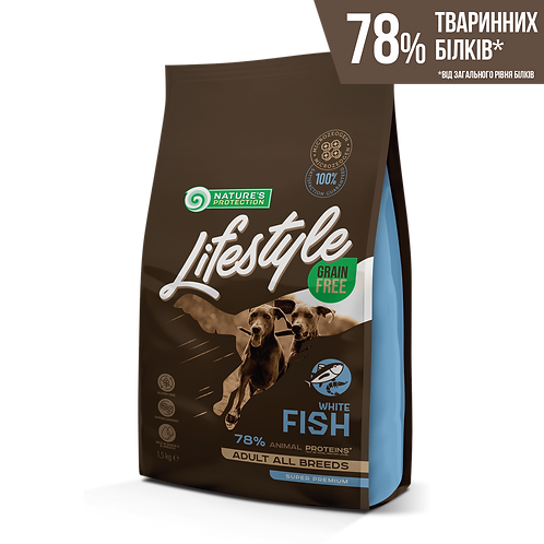 Lifestyle Grain Free White Fish Adult All Breeds