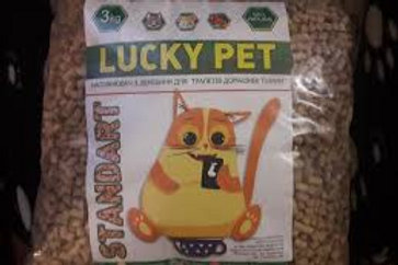 Древесный гигиенический наполнитель Lucky pet (светлая гранула)