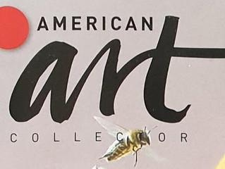 Double page spread in American Art Collectors Magazine