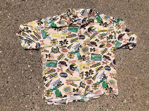 Multi-Graphic Hawaiian Shirt