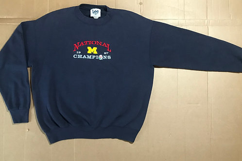 1997 National Championship Embroidered Crewneck