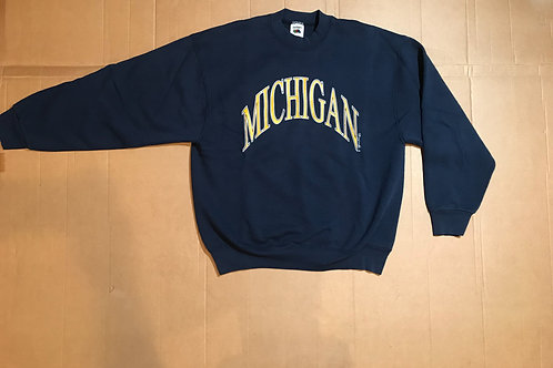Arched Michigan Script Crewneck