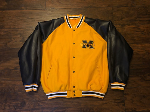 Maize Michigan Leather Jacket