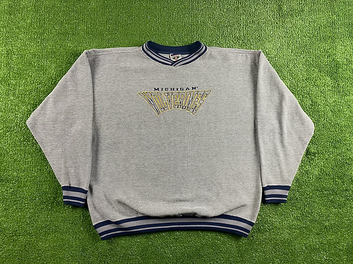 Embroidered Small Script Crewneck