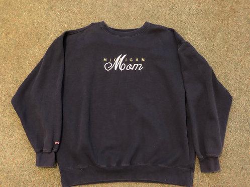 "Michigan ""Mom"" Embroidered Crewneck"