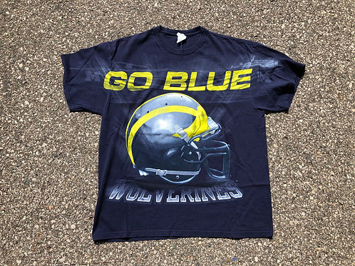 """Double Sided """"Let's Go Blue"""" T-Shirt"""