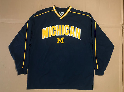 Long Sleeve Michigan Script & Embroidered M