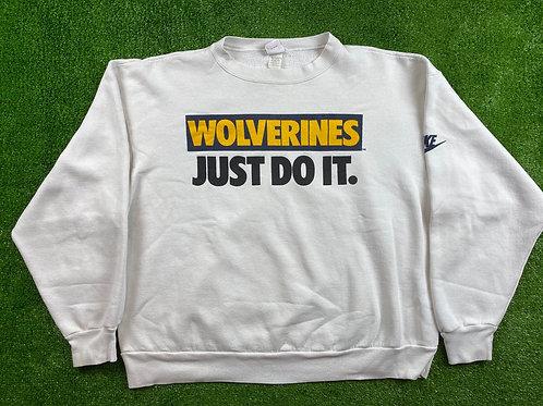 "Wolverines ""Just Do It"" Crewneck"