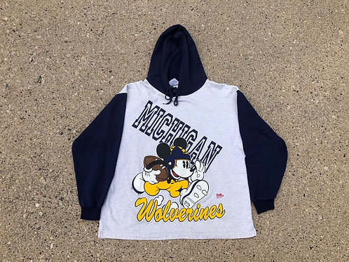 Mickey Mouse x Michigan Wolverines Thin Hoodie