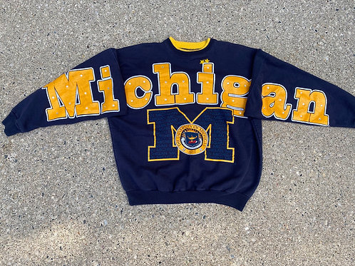 Bedazzled Full-Script and Crest Crewneck