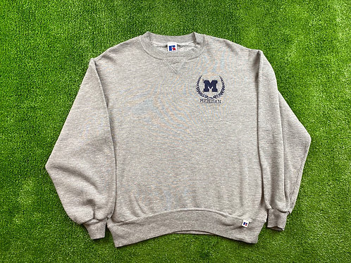 Chest Embroidered Logo Crewneck