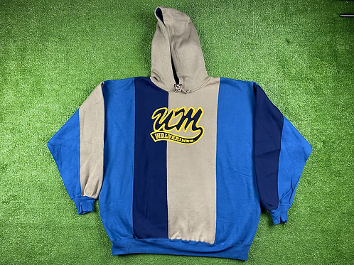 Color Block, Embroidered Logo Hoodie