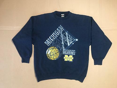 Michigan Multi-Basketball Graphic Crewneck