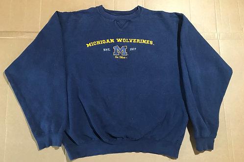 Michigan Wolverines 'M' Embroidered Crewneck