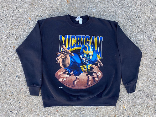 Double Sided Football Player Graphic Crewneck